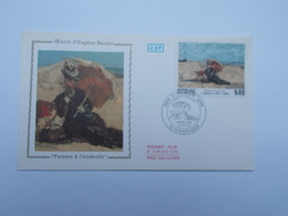 FDC : OEUVRE D'EUGENE BOUDIN - FDC