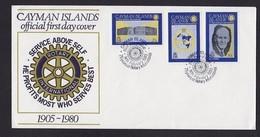 CAYMAN ISLANDS - 1980 FDC ROTARY - Rotary, Lions Club