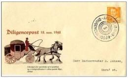 DANIMARCA - 18 11 1948 FDC DILIGENCEPOST - FDC