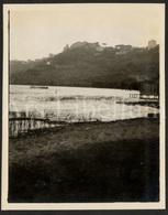 Photo Ancien / Foto / Italy / Lago Albano / Lake Albano / 1925 / Photo Size: 10.60 X 13.20 Cm. - Lieux