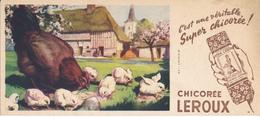 BUVARD - Chicorée LEROUX - Poule Et Poussins - Coffee & Tea