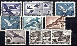 Autriche Poste Aérienne YT N° 54/60 Oblitérés. B/TB. A Saisir! - Poste Aérienne