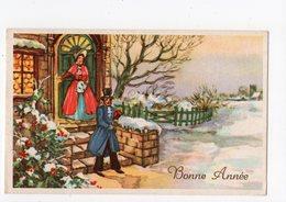 "847 - BONNE ANNEE - Couple De La ""Belle Epoque"" - Año Nuevo"