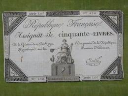 Bel Assignat 50 Livres émission Du 14 Décembre 1792 Cf Lafaurie N°164 Signé ANDRE - Assignats & Mandats Territoriaux