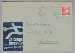Schweiz 1937-04-07 Zürich Perfin Auf Brief #O009 Orell Füssli - Suisse