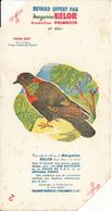 BUVARD - Margarine BELOR , Malaunay - Pigeon Biset - 2 Coins Découpés - Alimentaire