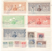 INDIA:JAIPUR... Lot Of 13 Court Fees Stamps - Jaipur