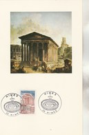 Plaquette Illustrée Cachet Maison Carrée NIMES 11/4/1981  Format 21 X 13 Cm - Lettres & Documents