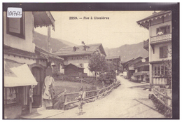 DISTRICT D'AIGLE - VILLARS CHESIERES - UNE RUE - TB - VD Vaud