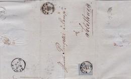 ENVELOPPE CIRCULEE  1866 SUISSE ZURICH A SOLOTHURN, FULL CONTENT INSIDE-BLEUP - 1862-1881 Zittende Helvetia (getande)