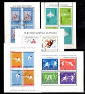 Pologne Cinq Bons Blocs-feuillets Oblitérés 1960/1964. B/TB. A Saisir! - Blocks & Sheetlets & Panes