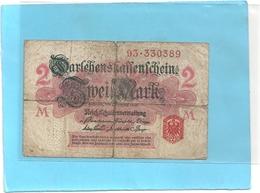 DARLEHENSKASSENSCHEINE . 2 MARK  .  12-8-1914  .  N° 93.330389  .  2 SCANES - [ 3] 1918-1933: Weimarrepubliek