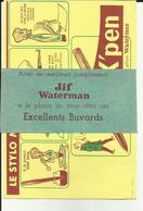 Buvard - X; Pen - Stylo- Encre- écriture Avec  Bande  D'envoi - Jif Waterman -Ref 27 - Cartoleria