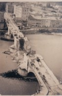 PHOTO ROMANS - DROME 26 -  LE PONT DETRUIT EN 1944 - Guerre, Militaire