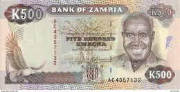 ZAMBIE 500 KWACHA  ND1991 UNC P 35 - Zambie
