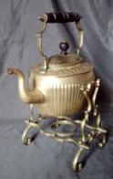 Théière Bouilloire William Soutter Son XIXème SWS & B Brass Teapot 19th - Cuivres