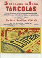 75 - Paris - Lot De 2 Buvards - Société Colas - Route- Goudrons -Ref 27 - Gas, Garage, Oil