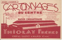 BUVARD - Cartonnages Du Centre - Orval Saint Amand, Cher - Papeterie