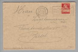 """Schweiz 1929-04-06 Zürich Brief Mit Perfin #W020 """"W.X.L."""" Wixler & Co. Zürich - Suisse"""
