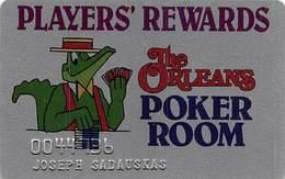 The Orleans Casino - Las Vegas, NV - Poker Room Slot Card - Casino Cards