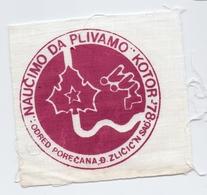 "Patch ""Let's Learn To Swim"" Kotor 1978 . Unit Scout Djordje Zlicic Novi Sad Serbia Yugoslavia Scouting - Scoutisme"