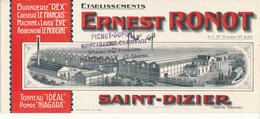 BUVARD - Etablissements Ernest Ronot - Saint Dizier, Haute Marne - Autres