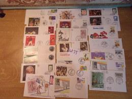 FDC  / JJ / FRANCE  / 21 Enveloppes Dont Certaines Sur Soie - FDC
