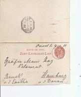 Hongrie ( EP De 1896 De Onod  Vers Hainburg à Voir) - Lettres & Documents
