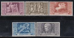 1937  Yvert Nº 102 / 106  /*/ - 1900-44 Victor Emmanuel III