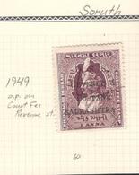 INDIA1949... SORUTH Revenue Michel30used - Soruth