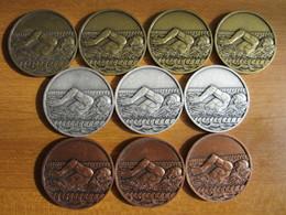 MEDAILLES NATATION - Façon Or/bronze/argent -  Dia 50 Mm (au Choix Unitaire :: 5 € - - Natación