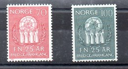 Serie De Noruega N ºYvert 567/68 (**) - Nuevos