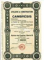 Ateliers De Construction De CAMBRÉSIS - Industrie