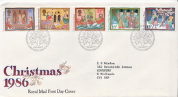Great Britain Set On FDC - Christmas