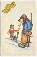 Joyeux Noël - Elite 4035 - Glitter Dogs Rifle Umbrella - Christmas