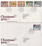 Great Britain Set On FDCs - Christmas