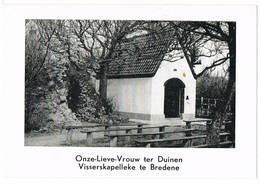 Bredene, 1961: 'Gebed Van De Zeeman; Onze-Lieve-Vrouw Ter Duinen Visserskapelleke.(2 Scans) - Devotieprenten