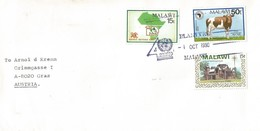 Malawi 1990 Blantyre Cow Church SADCC UNDP Special Handstamp Cover - Malawi (1964-...)