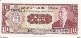 PARAGUAY 10 GUARANIES L.1952 UNC P 196 B - Paraguay