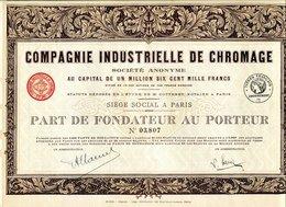 COMPAGNIE INDUSTRIELLE De CHROMAGE (Imprim. Richard) - Industrie