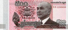 CAMBODIA 500 RIELS 2014 (2015) P-66a UNC [KH429a] - Cambodge