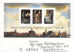 NETHERLANDS - MINISHEET 1996 VERMEER Mi #BLOCK 46 - Period 1980-... (Beatrix)