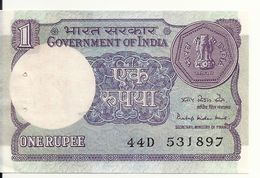 INDE 1 RUPEE 1984 AUNC ( Trou D'agraphe) P 78A A - Inde