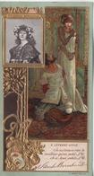 LU LEFEVRE UTILE  CHROMO GAUFREE     THEODORA  Mme SARAH BERNHARDT - Lu