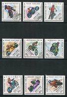 MONACO- Y&T N°1097 à 1105- Oblitérés (motos) - Mongolie