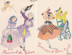 Illustrateur - J Duché - Edition Du Pélican Blanc - Série De 10 Cp - N ° 195 à 204 - Francia