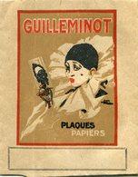 Pochette Double Pour Photos Et Négatifs Avec Pub Guilleminot Et Illustrations Donc Clown Pierrot - Photographie