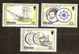 Gibraltar 1988 Yvertn° 567-569 *** MNH Cote 3,75 Euro Opération Raleigh - Gibraltar