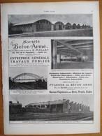 1926 - Contruction Hangars D'aviation De Villacoublay....  - Ets  E Mallet  - Page Originale ARCHITECTURE INDUSTRIELLE - Architecture