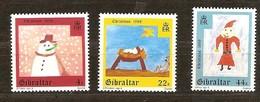 Gibraltar 1988 Yvertn° 570-572 *** MNH Cote 3,00 Euro Noël Kerstmis Christmas - Gibraltar